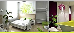 Dahlia Inn - Modern design hotel rooms, privacy, prices